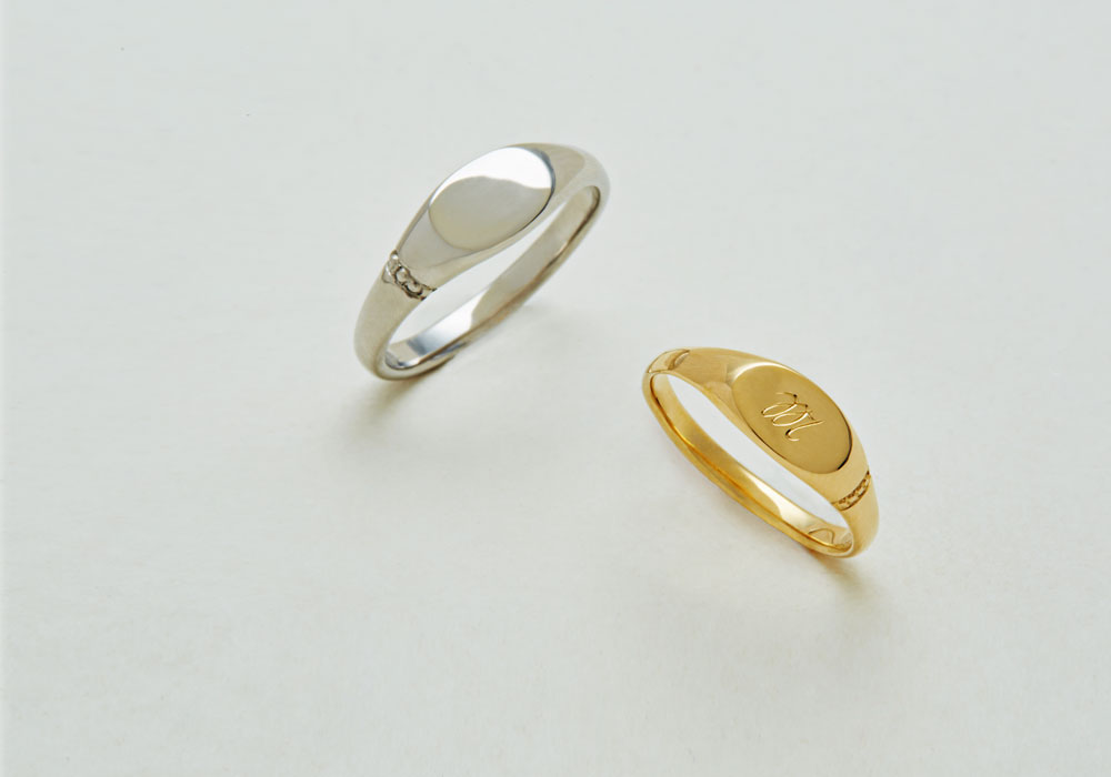 "Marriage ring-M-006〔 Oval Signet Ring 〕"" Keep ticking precious time. "" / men's:PT900 125,000~/ women's:K18YG 100,000~"