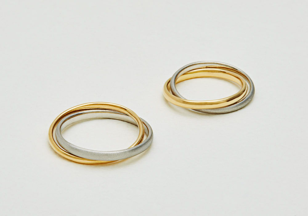 "Marriage ring-M-008〔 Combination Ring 〕"" Shine and respect each other. "" / men's:PT900 160,000~/ women's:K18YG 140,000~"